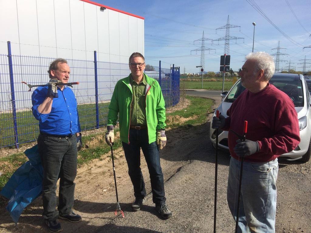 Aktiv bei der Umweltsäuberungsaktion in Bornheim