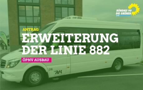 Erweiterung der Linie 882